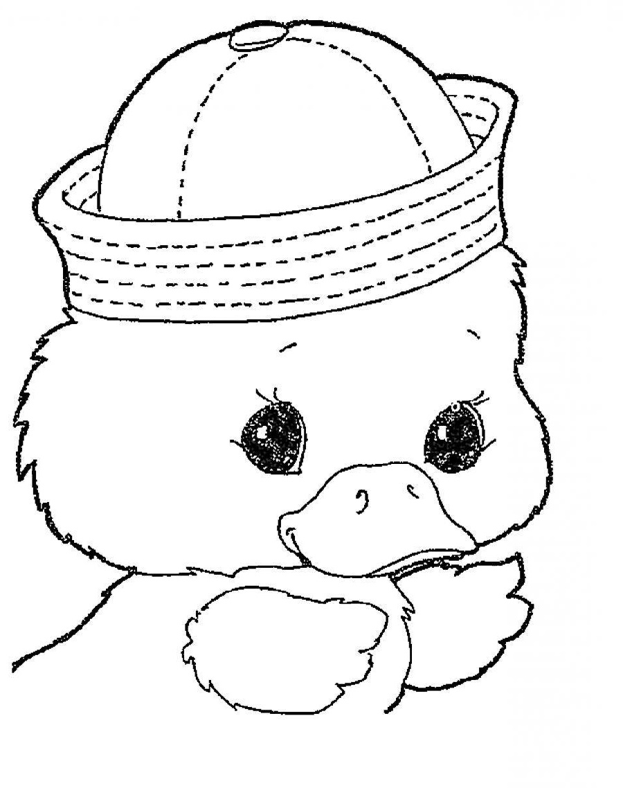Cute Animal Coloring Pages Duck