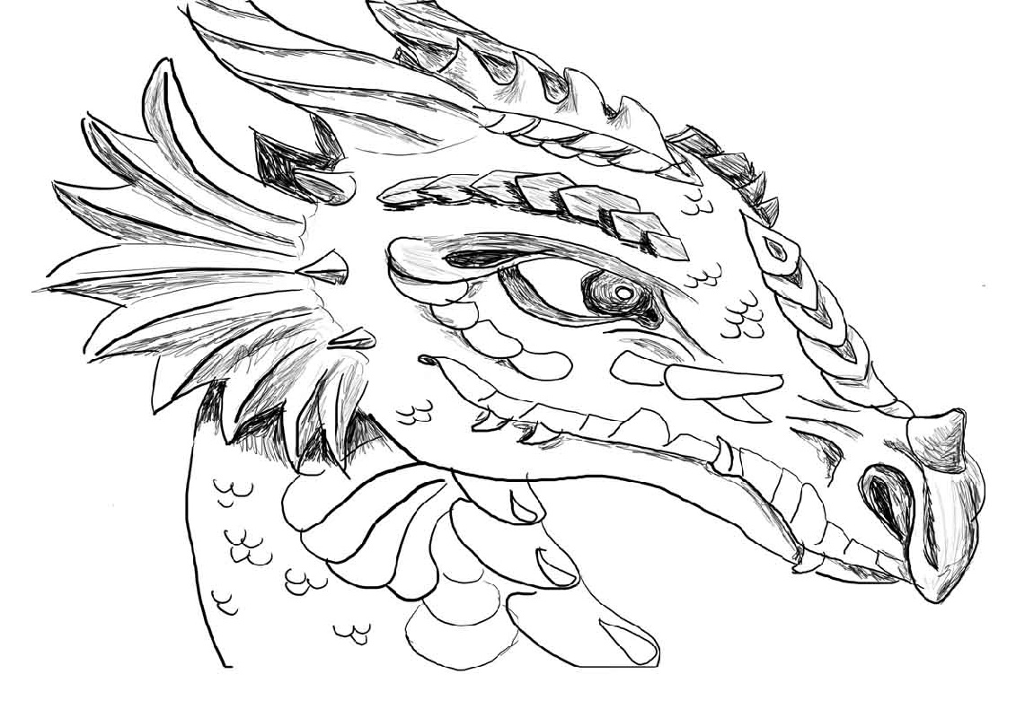 Dragon Coloring Face