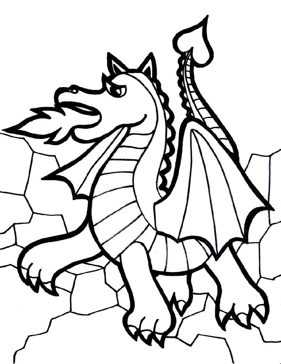 Dragon Coloring For Kids