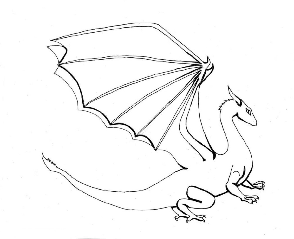 Dragon Coloring Printable