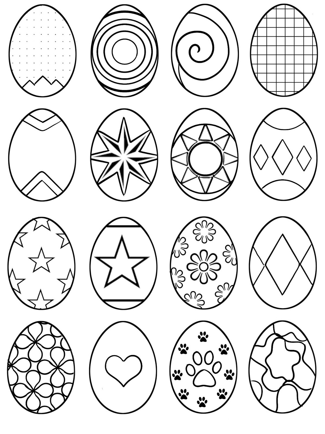 Easter Egg Coloring Ideas Printable