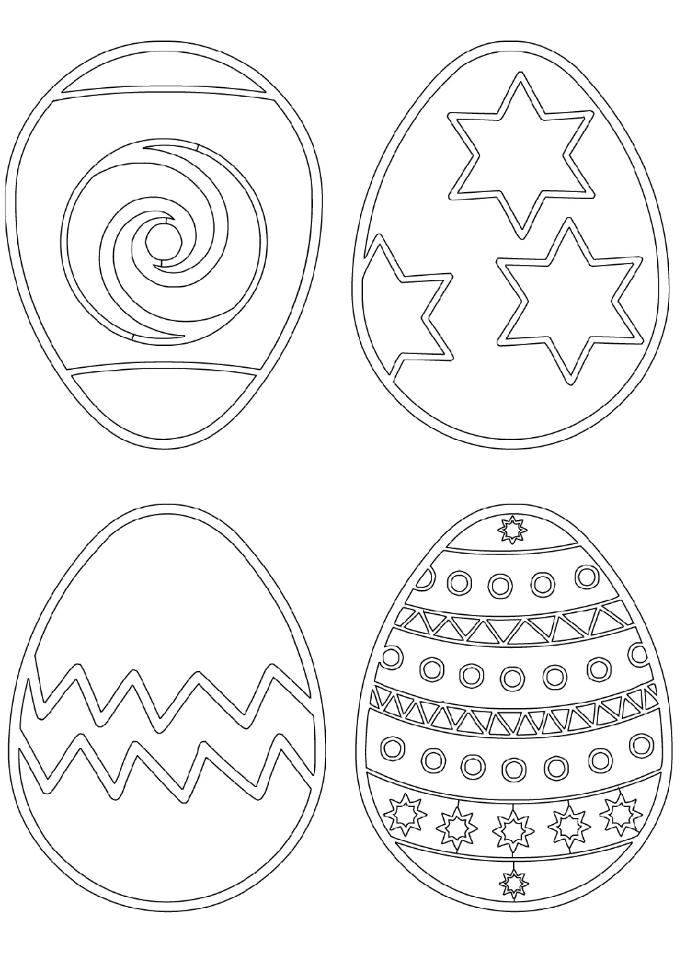 Easter Egg Coloring Ideas To Print