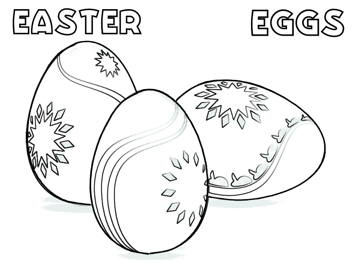 Easy Easter Egg Coloring Ideas