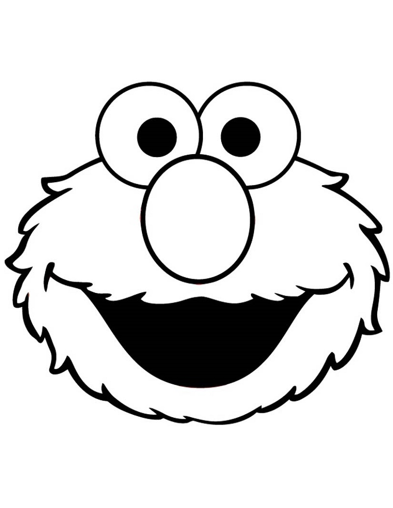 Elmo Coloring Pages Face