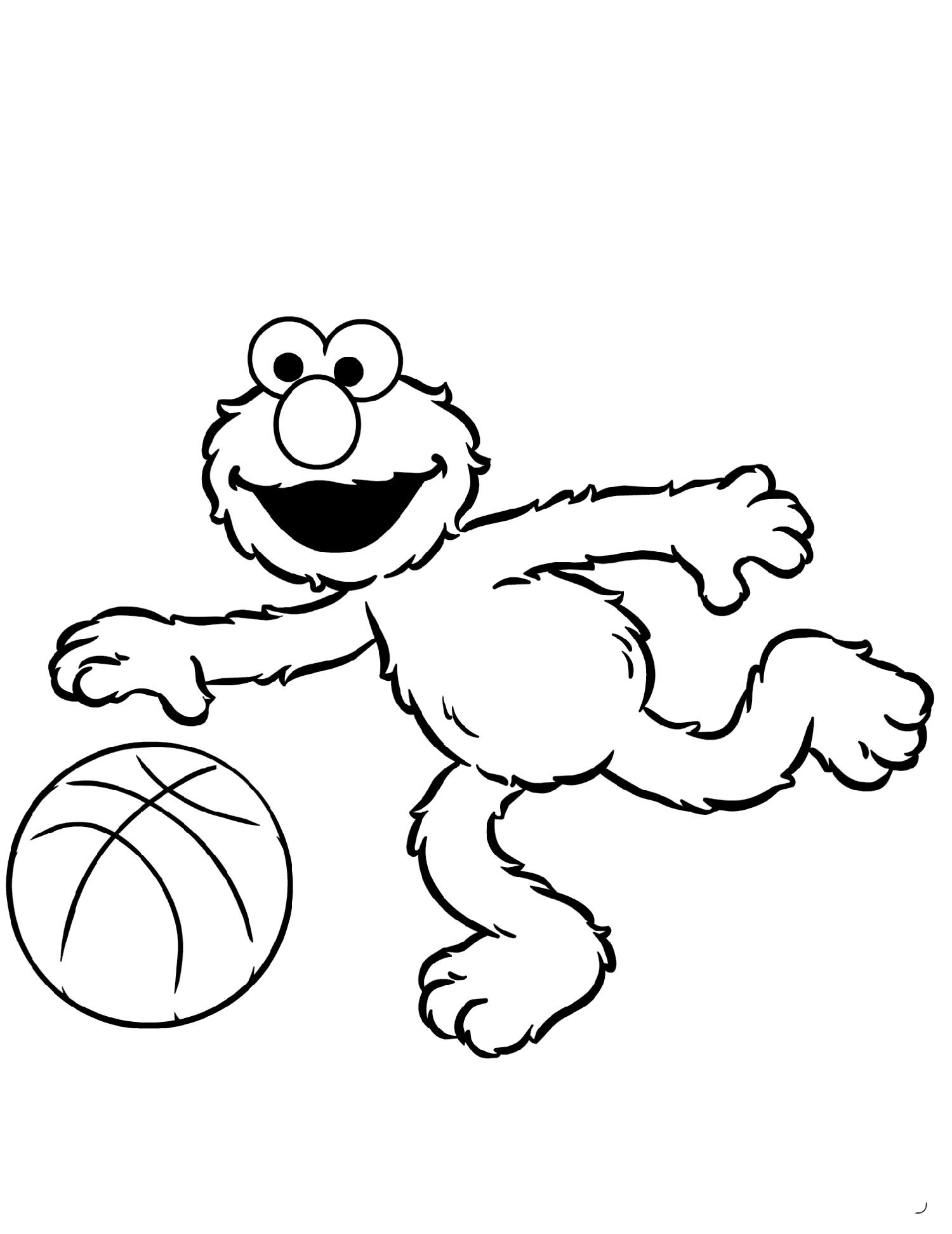 Printable Elmo Coloring Pages | K5 Worksheets