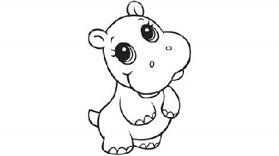 Baby Coloring Games Hippo