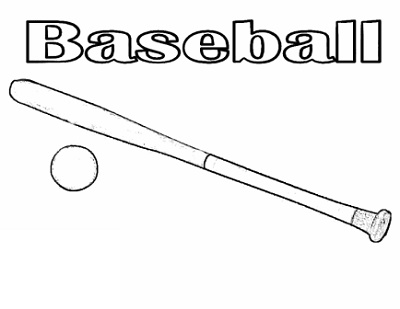 Baseball Coloring Pages Bat