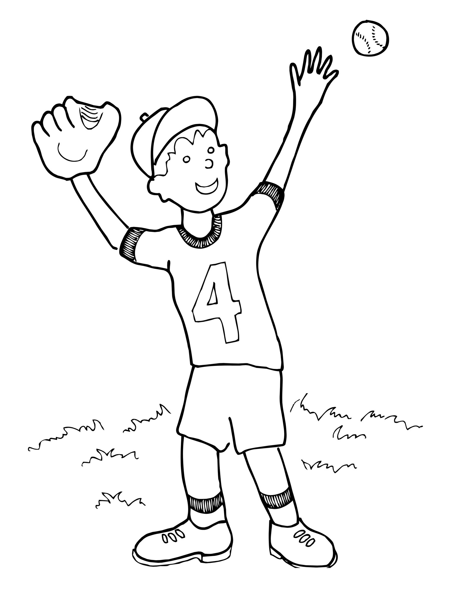 Baseball Coloring Pages Catch