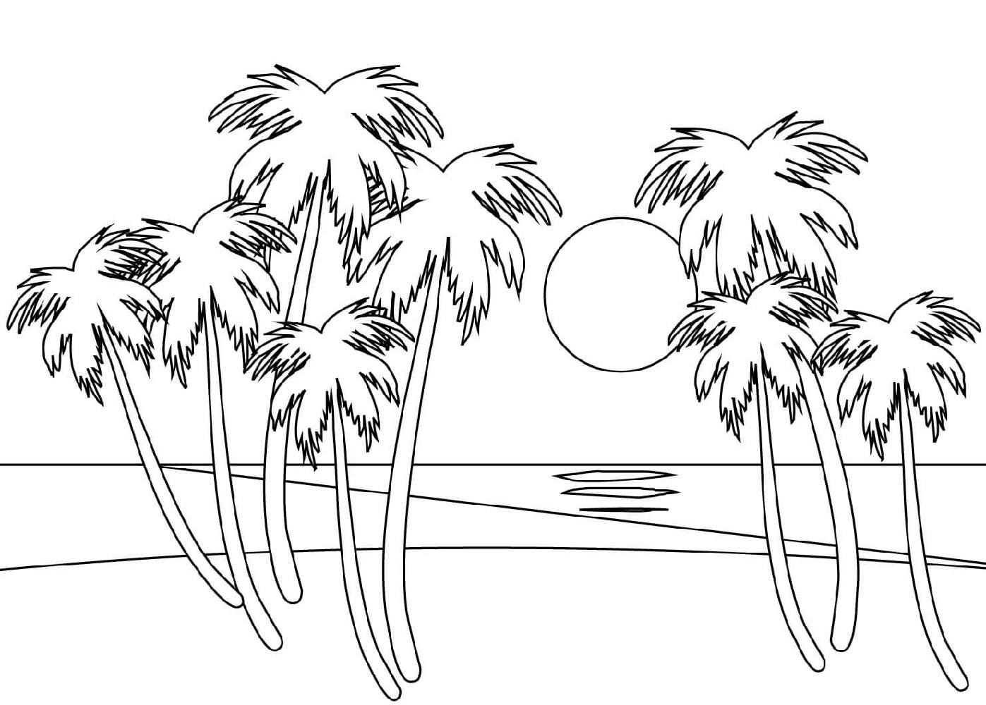 Beach Coloring Pages Free