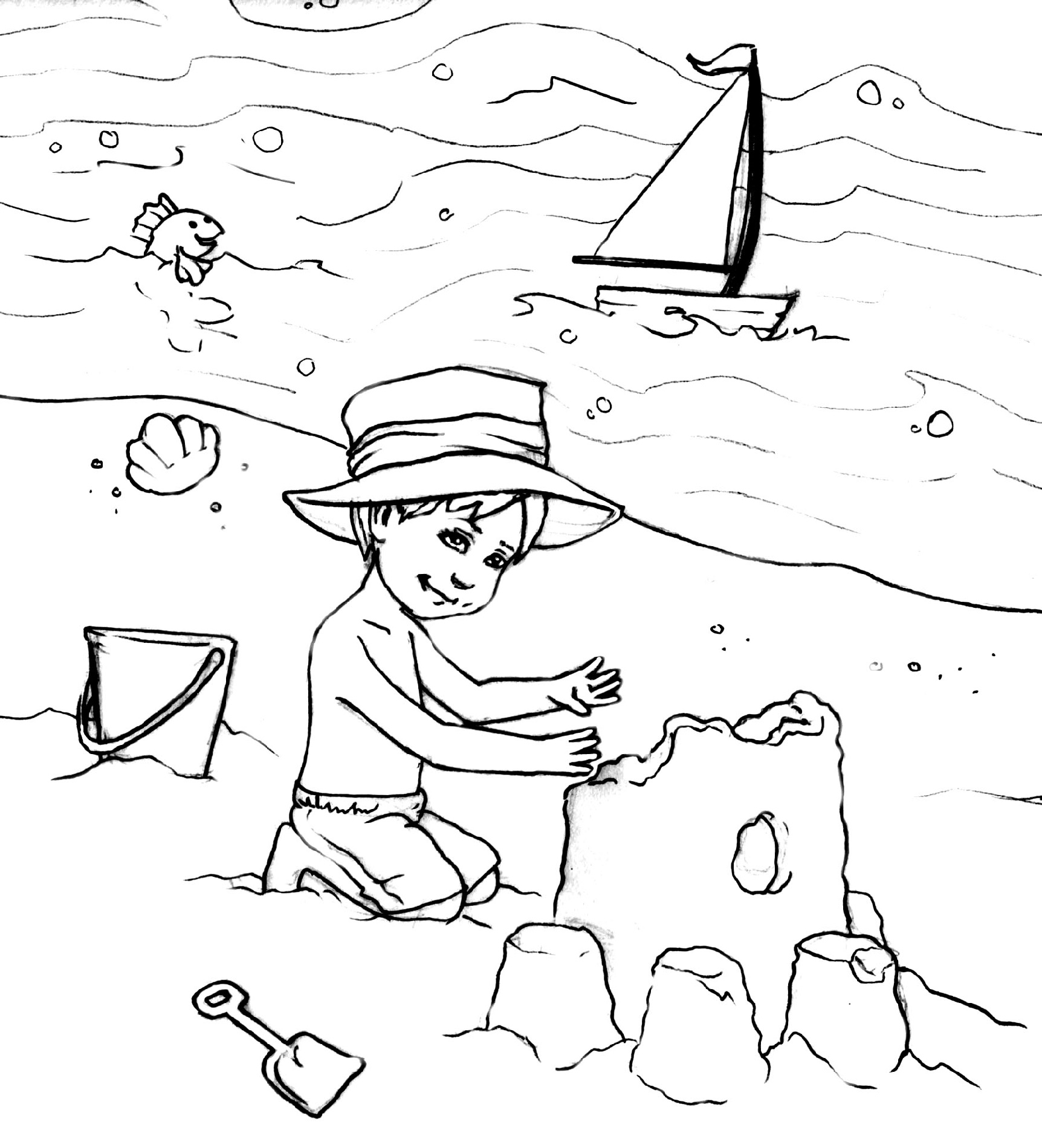 Beach Coloring Pages Printable