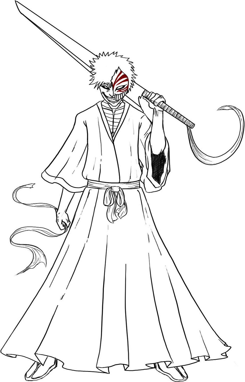 Bleach Coloring Pages Ichigo