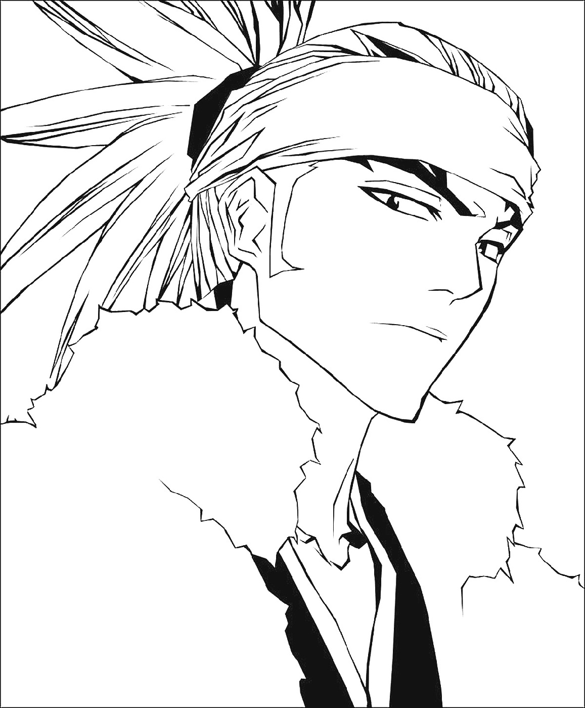 Bleach Coloring Pages Toshiro