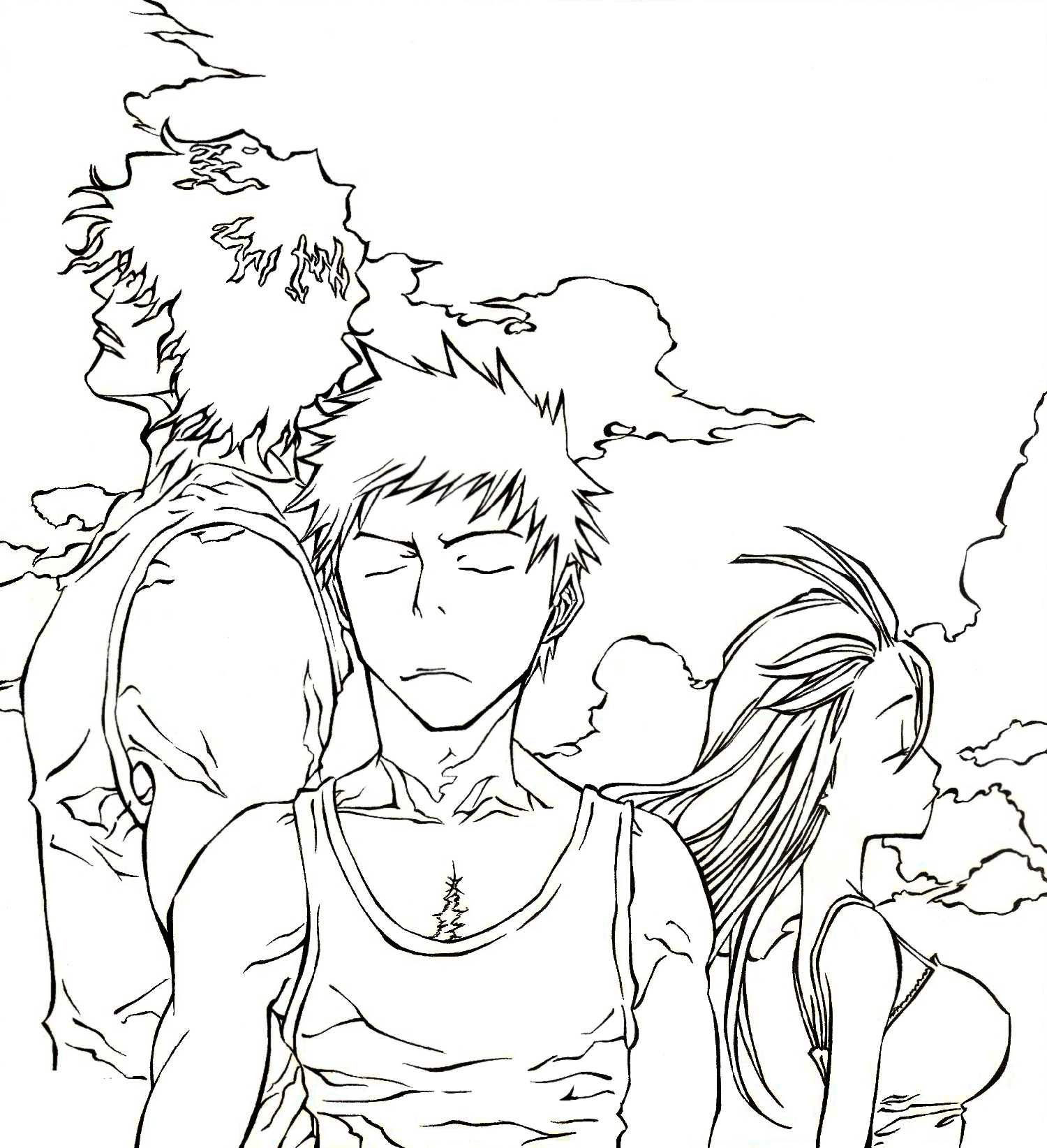 Bleach Coloring Pages Trio