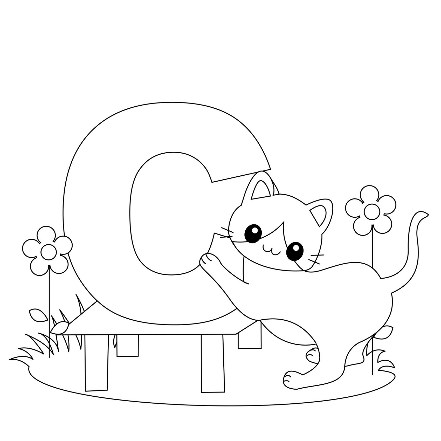 Children Coloring Pages Alphabet
