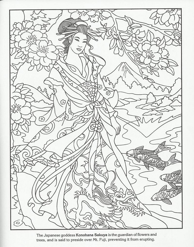 Coloring Book Sakuya Geisha