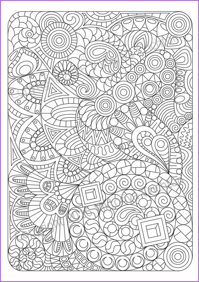 Coloring Pages For Adults Pdf Abstract