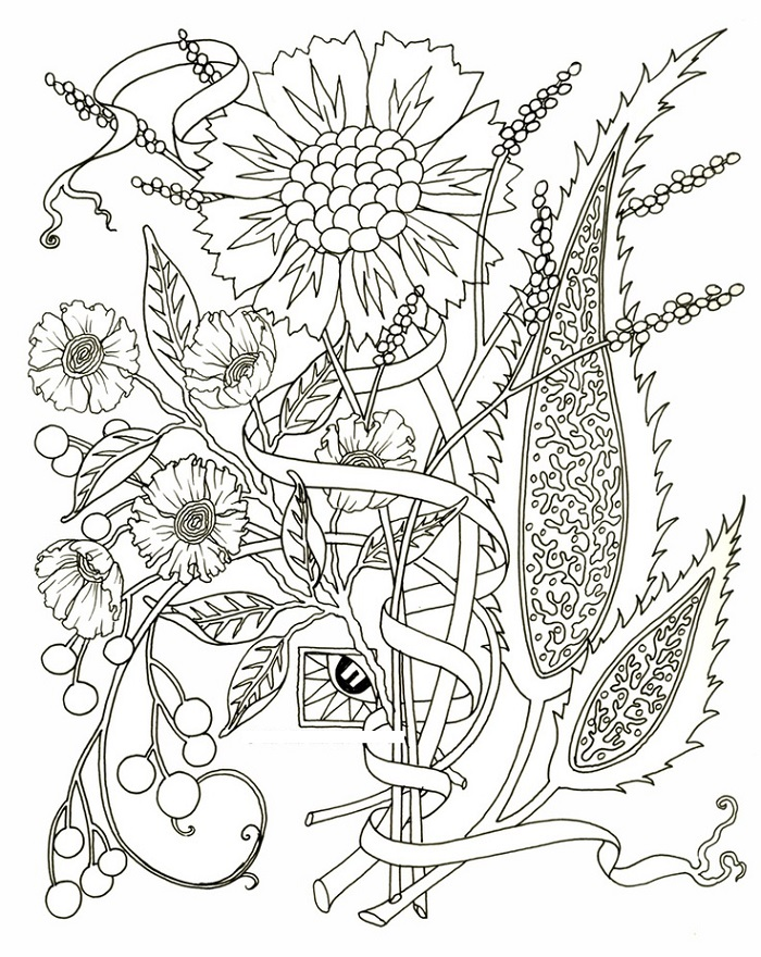 Coloring Pages For Adults Pdf Flower
