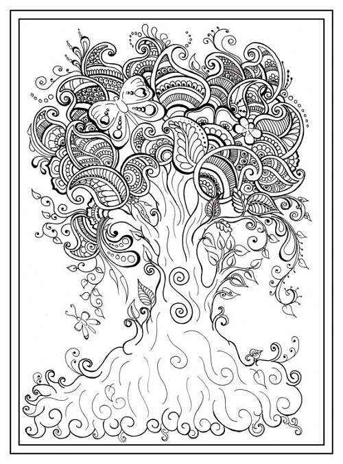 Coloring Pages For Adults Pdf Tree
