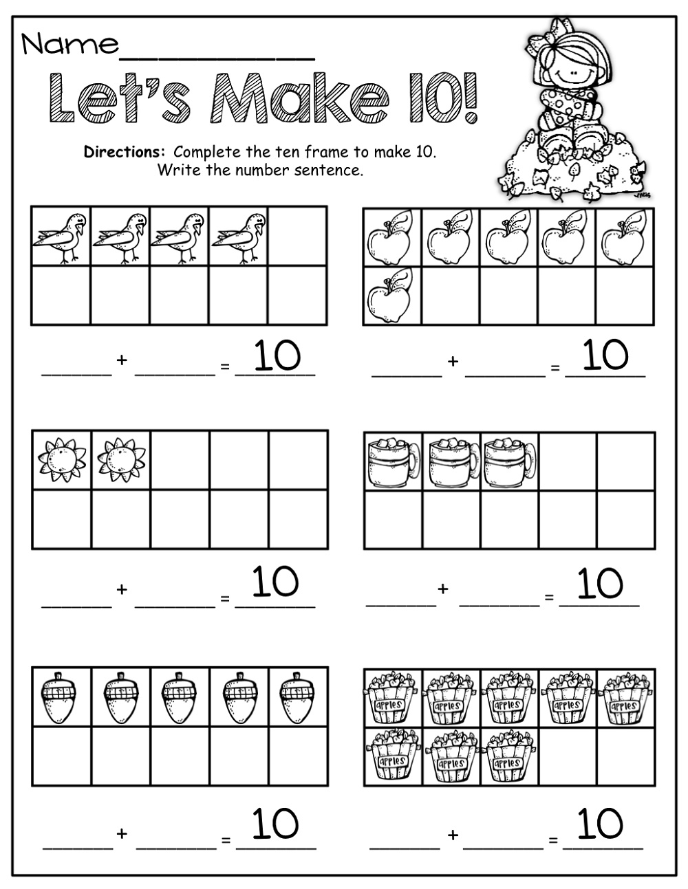 Create Math Worksheets Making 10