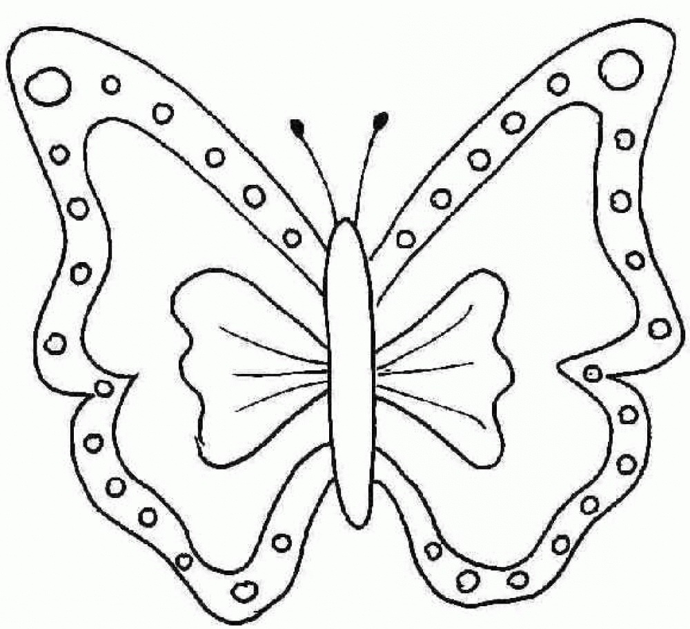 Cute Butterfly Coloring