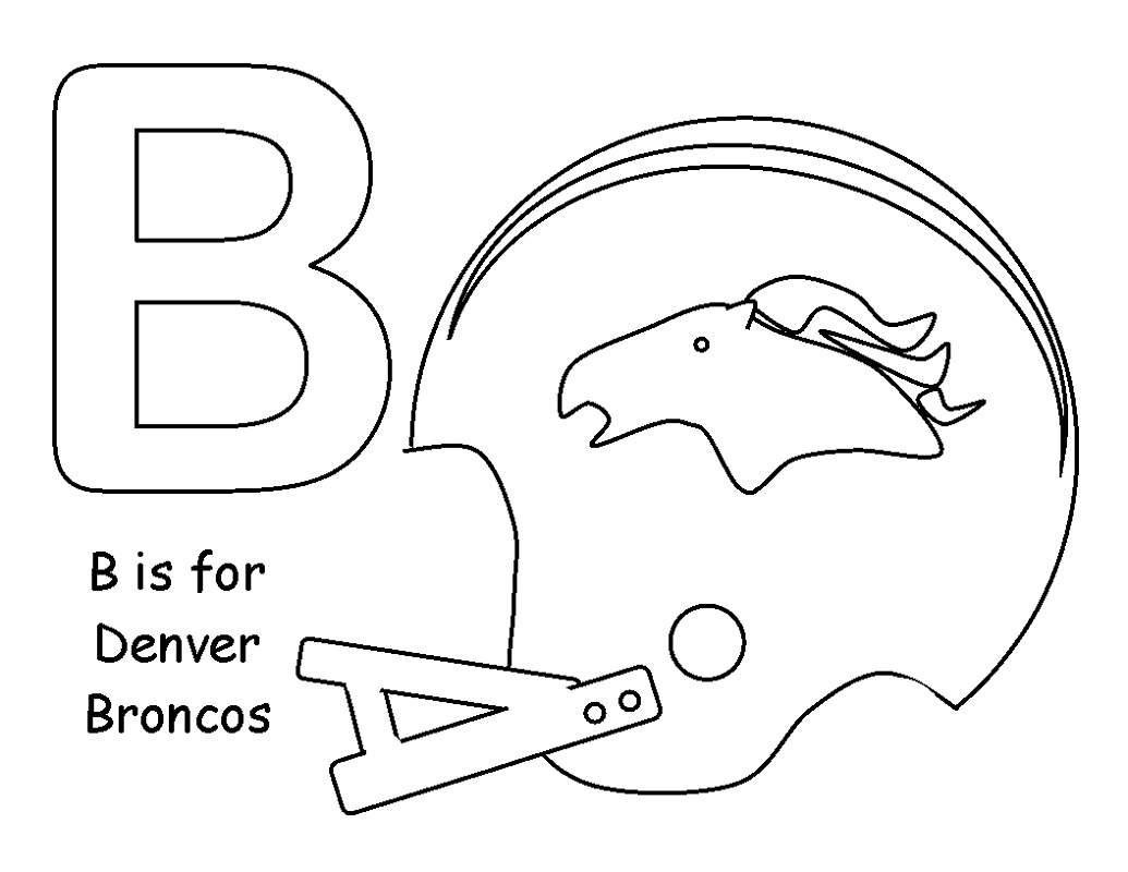 Denver Broncos Coloring Pages Football