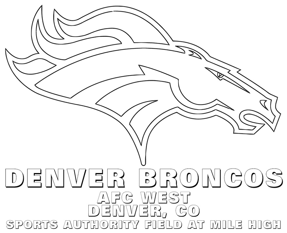 Denver Broncos Coloring Pages Free