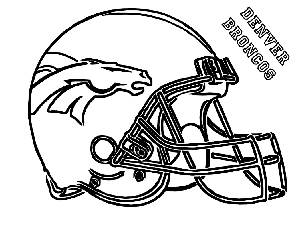 Denver Broncos Coloring Pages Helmet