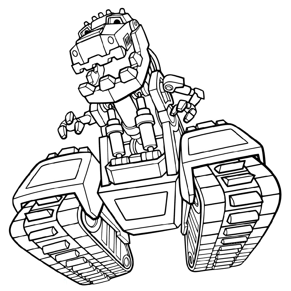 Dinotrux Coloring Pages For Kids