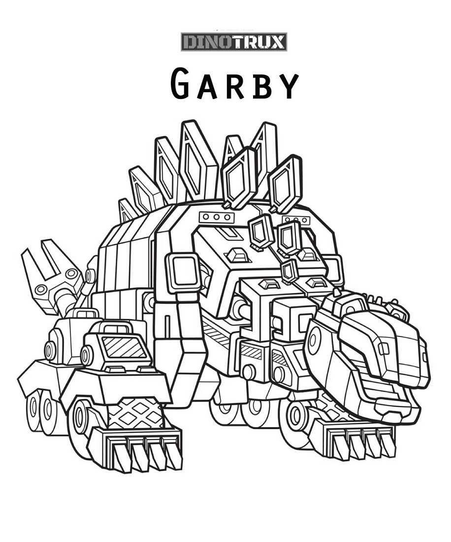 Dinotrux Coloring Pages Garby