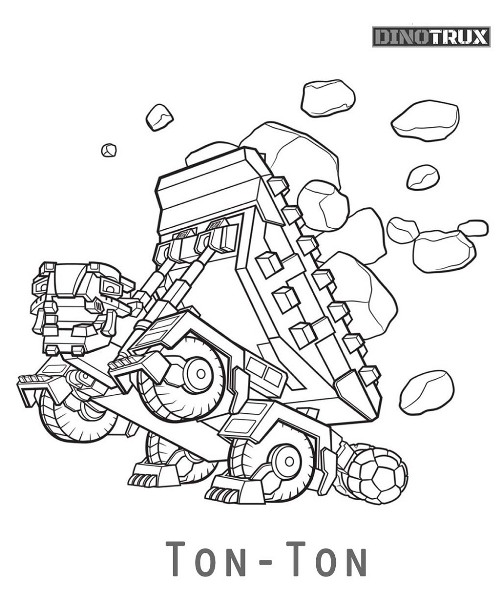 Dinotrux Coloring Pages Ton Ton