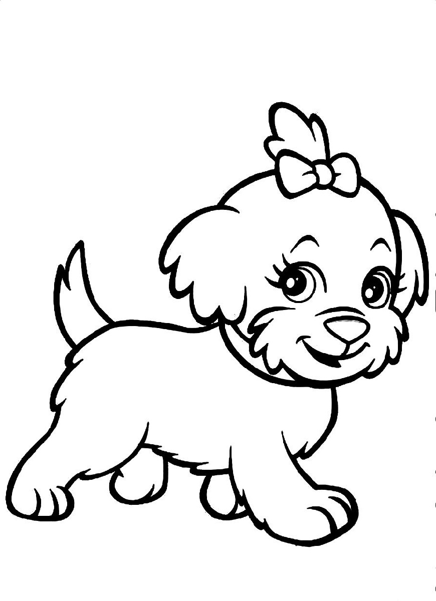 Dog Coloring Cartoon