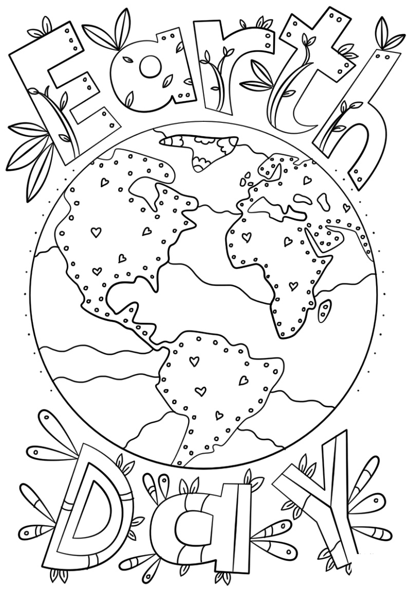 Earth Day Coloring Pages Doodle