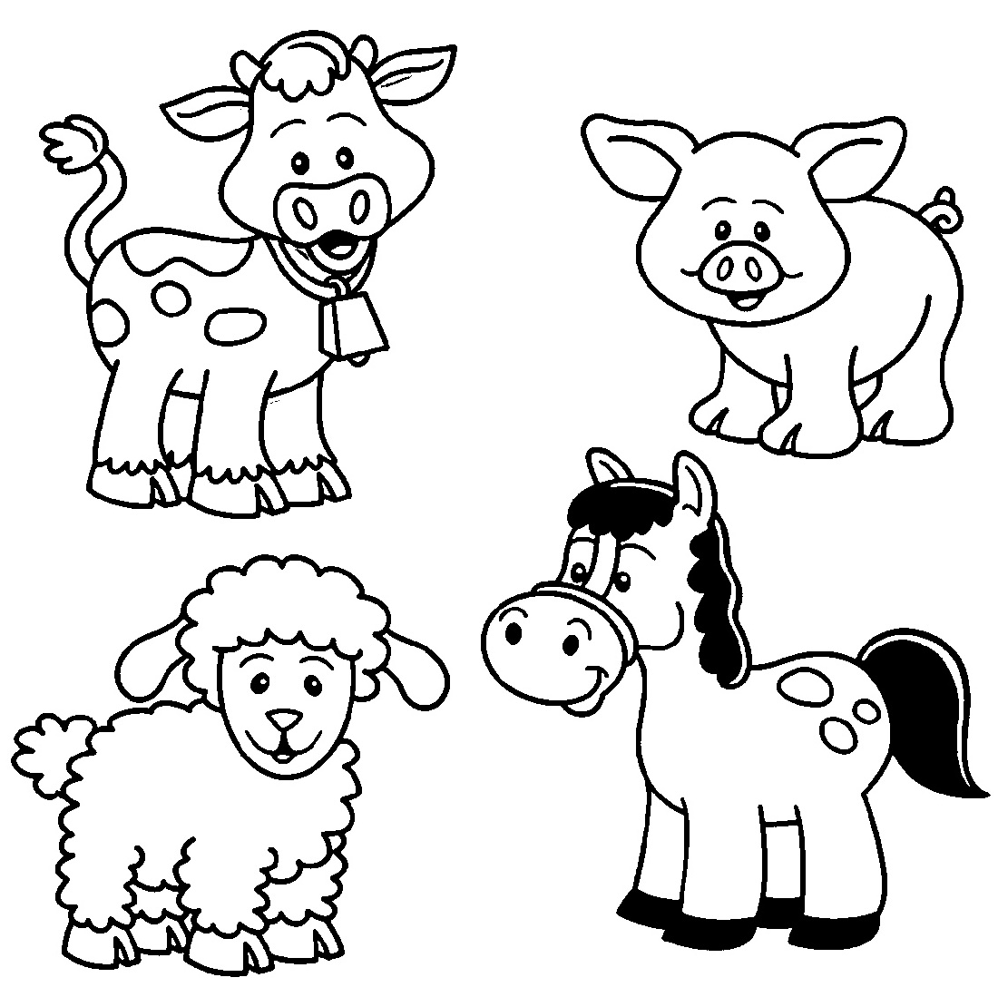 Farm-Animal-Coloring-Pages-Cartoon