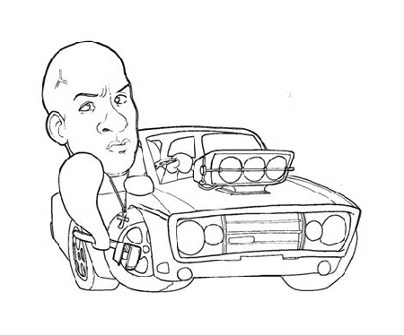 Fast And Furious Coloring Pages Free