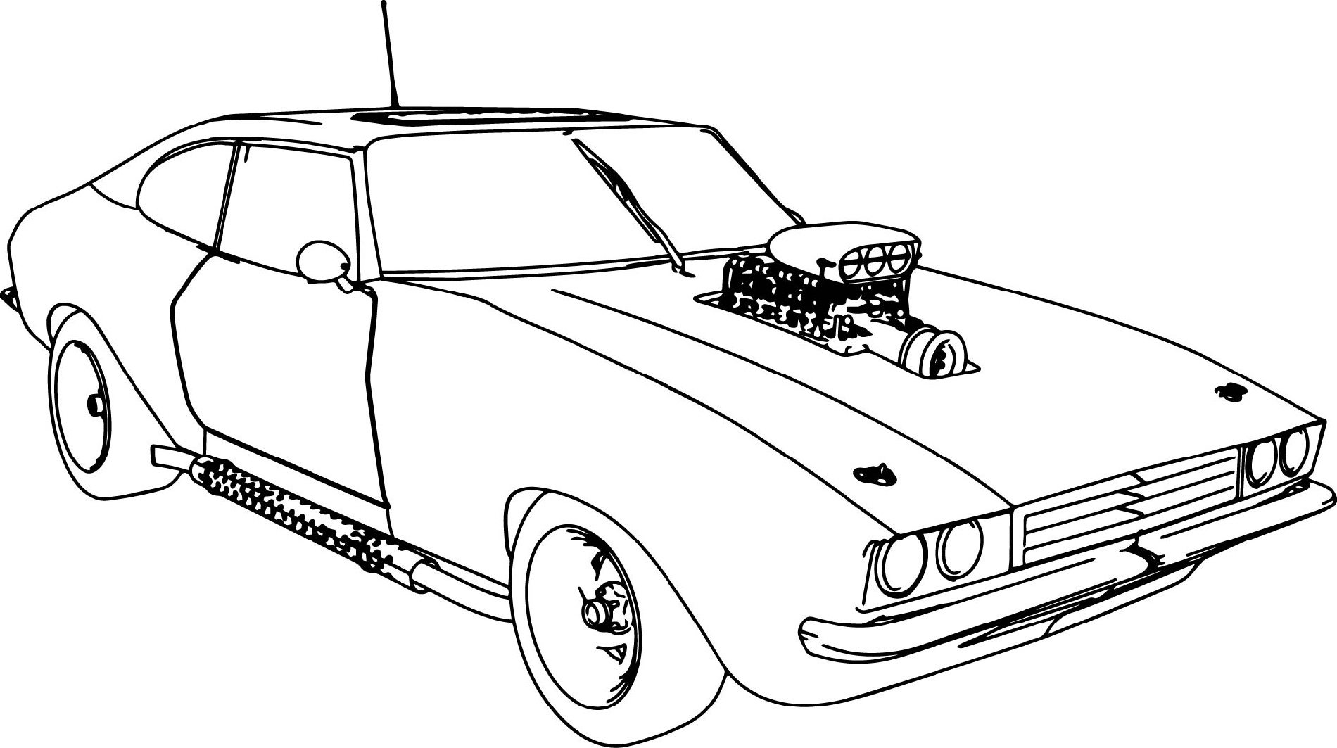 Fast-And-Furious-Coloring-Pages-Muscle-Car