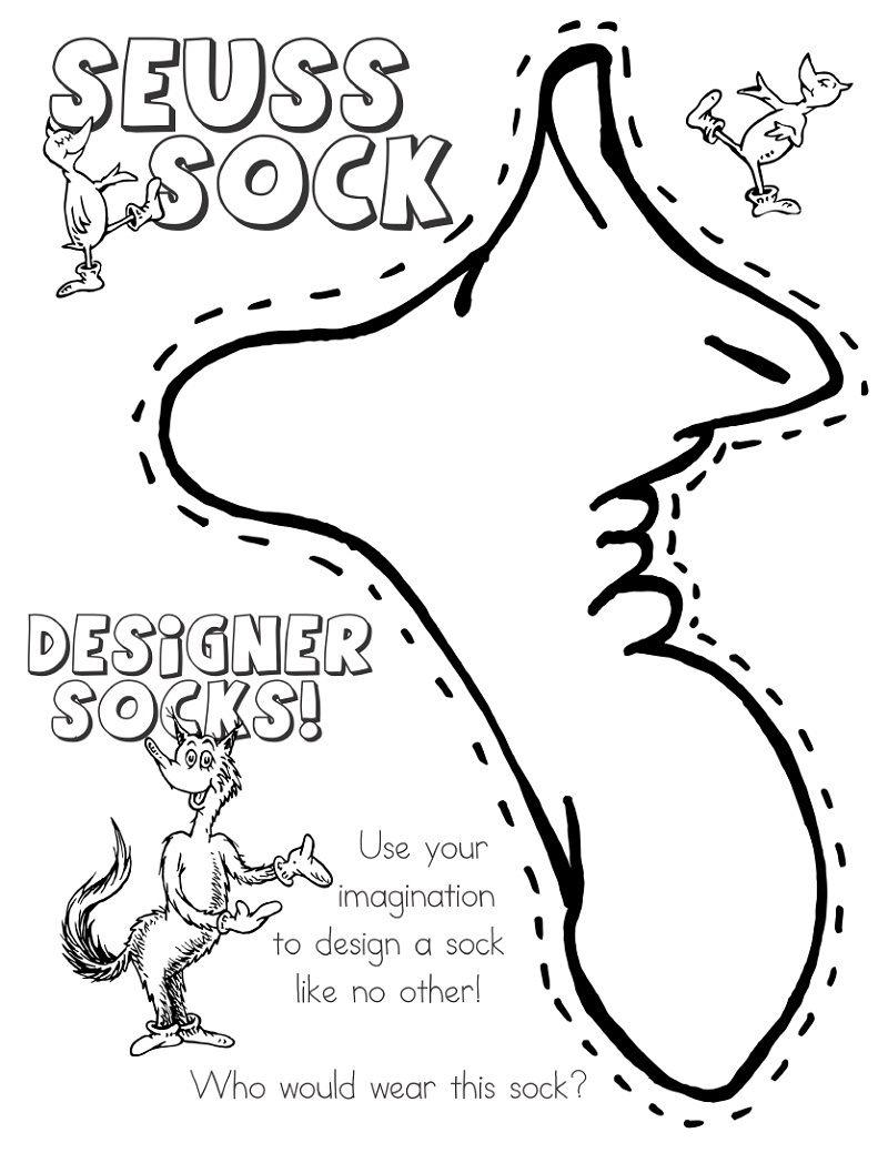 Fox In Socks Coloring Page Design