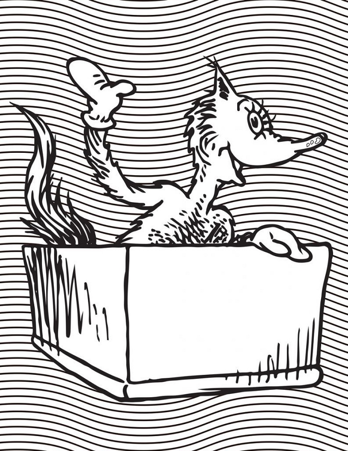 Fox In Socks Coloring Page Free