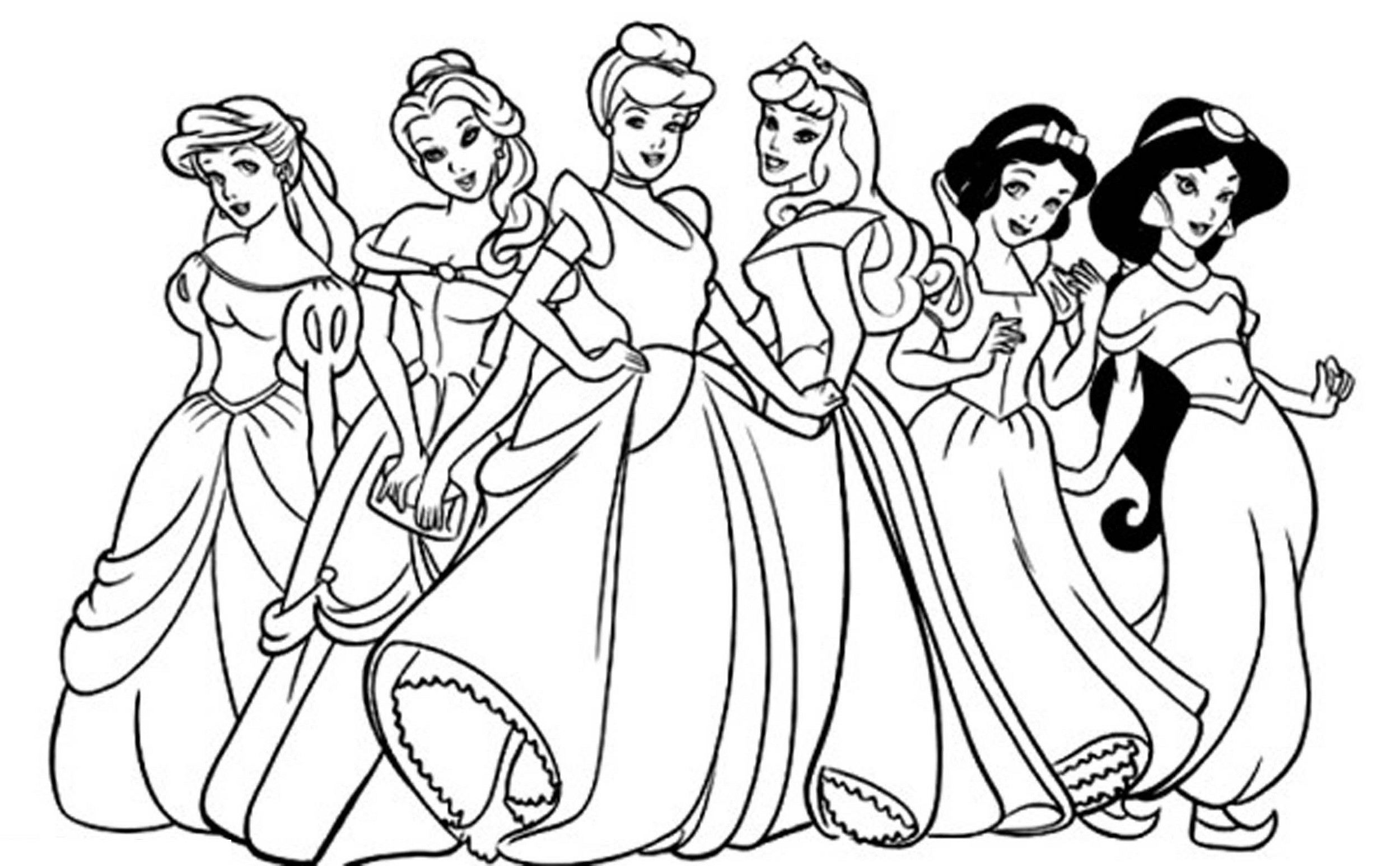 Free Disney Coloring Pages Princess