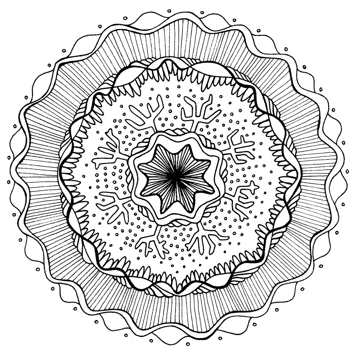 Free Mandala Coloring Pages Art