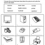Free Primary Worksheets Computer