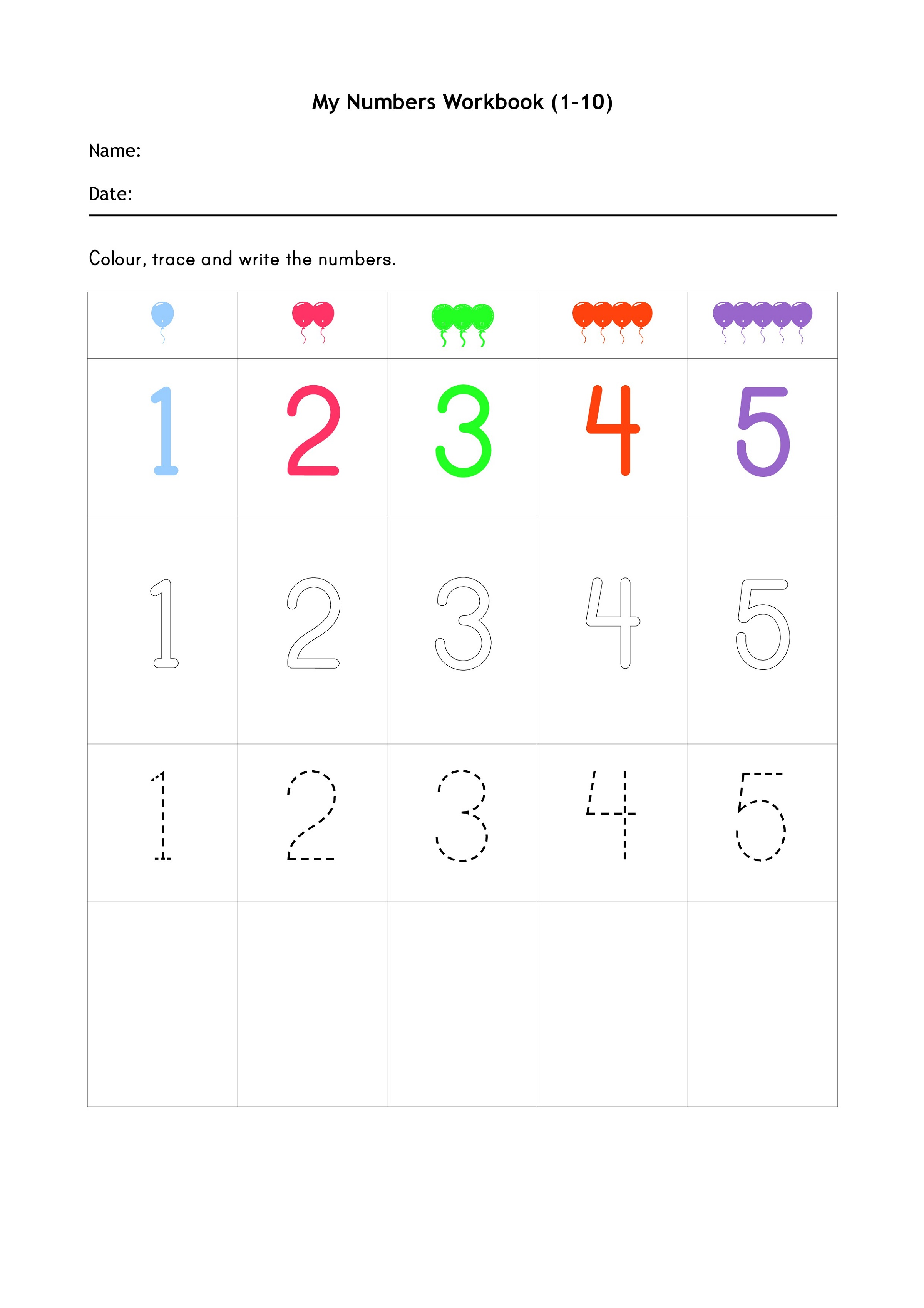 Free Primary Worksheets Math