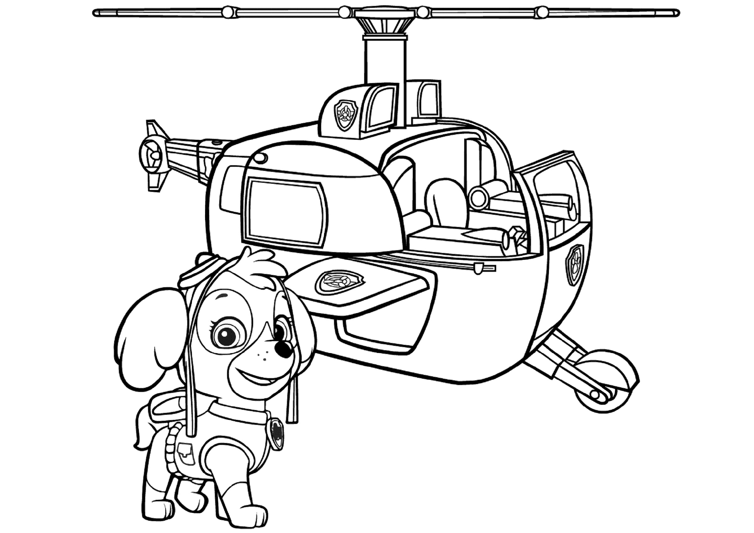 Free Printable Paw Patrol Coloring Pages Skye's Helicopter