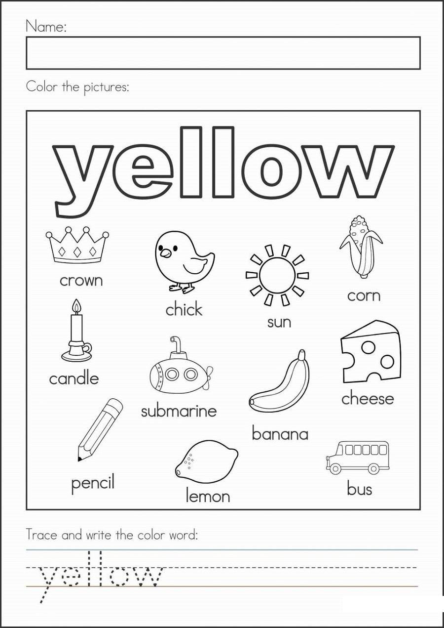 Free Printables For Children Colors
