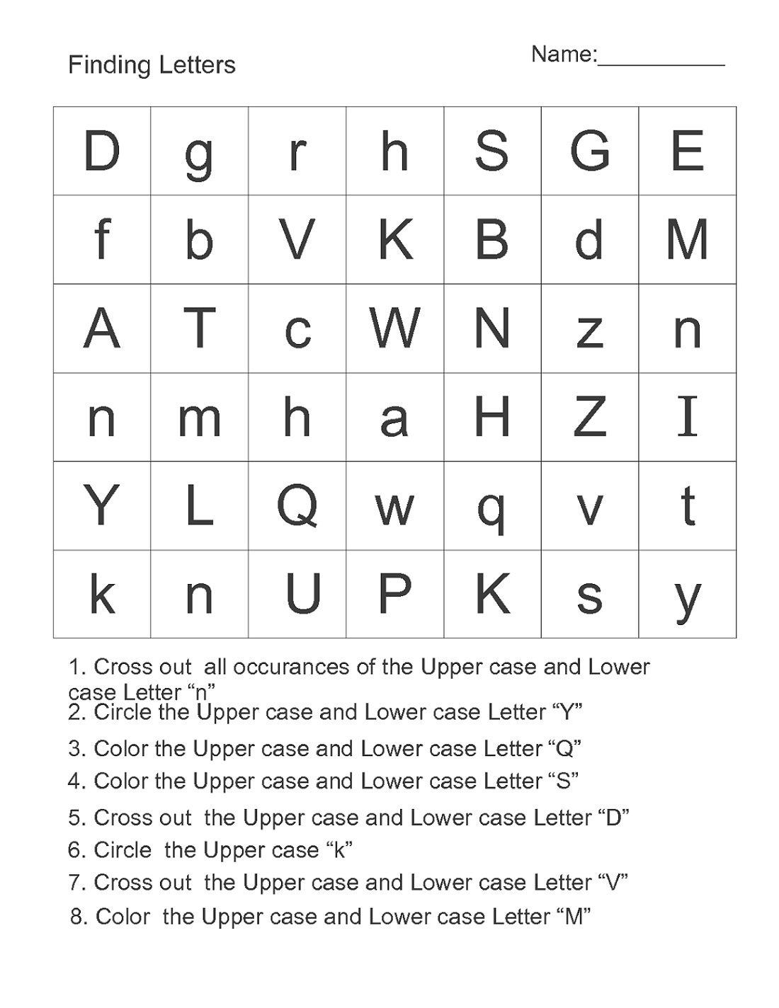 Free Printables For Children Letters
