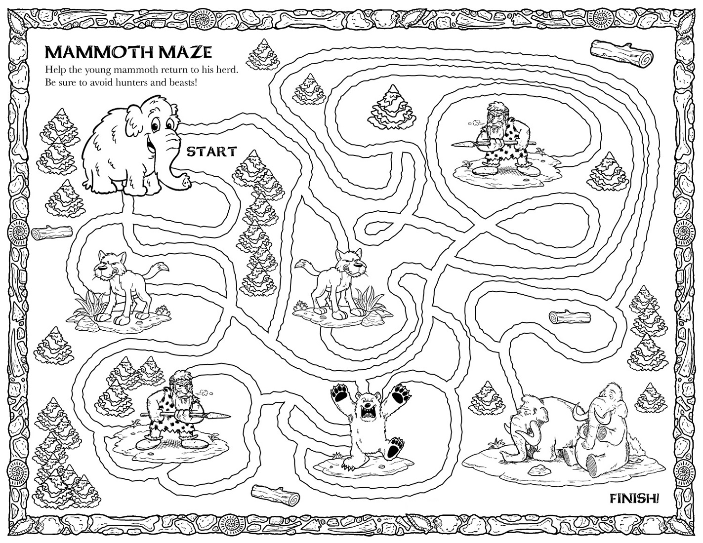 Free Printables For Children Maze