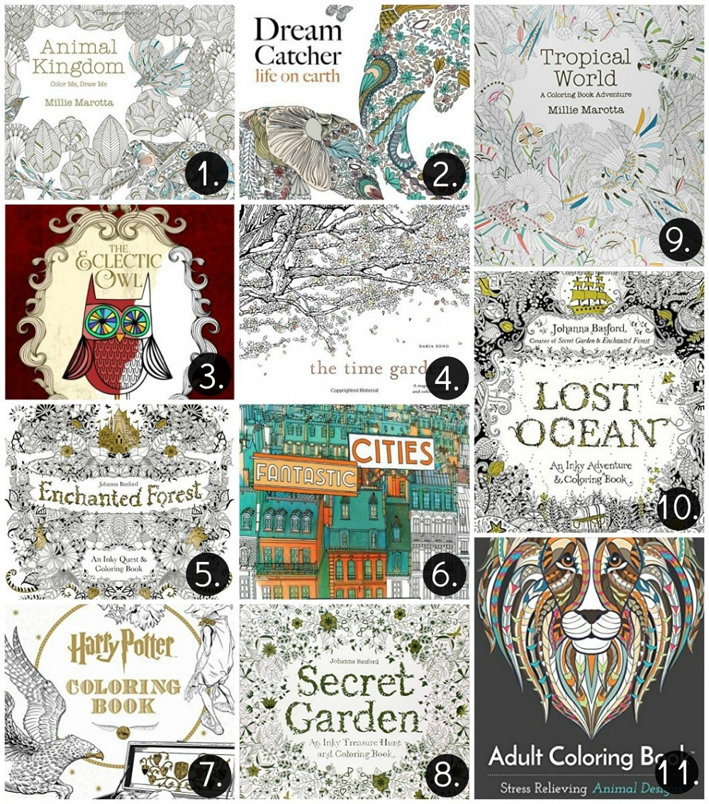 Best Adult Coloring Books Free