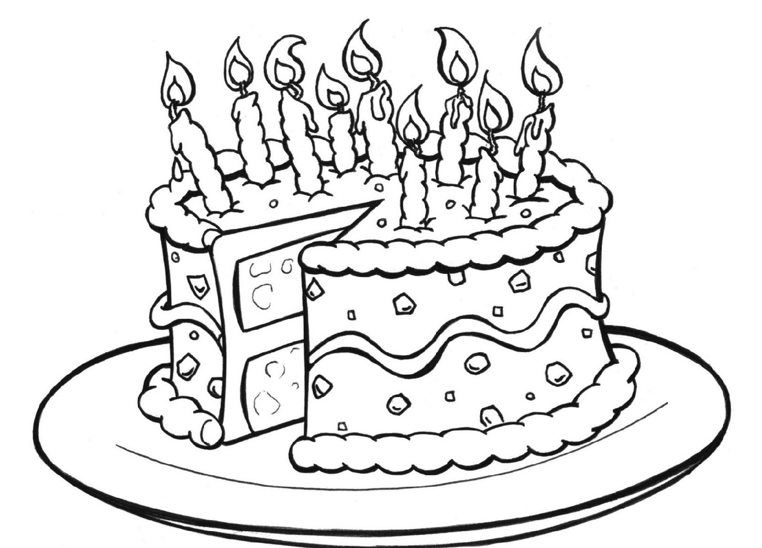 Cake Coloring Pages For Kids