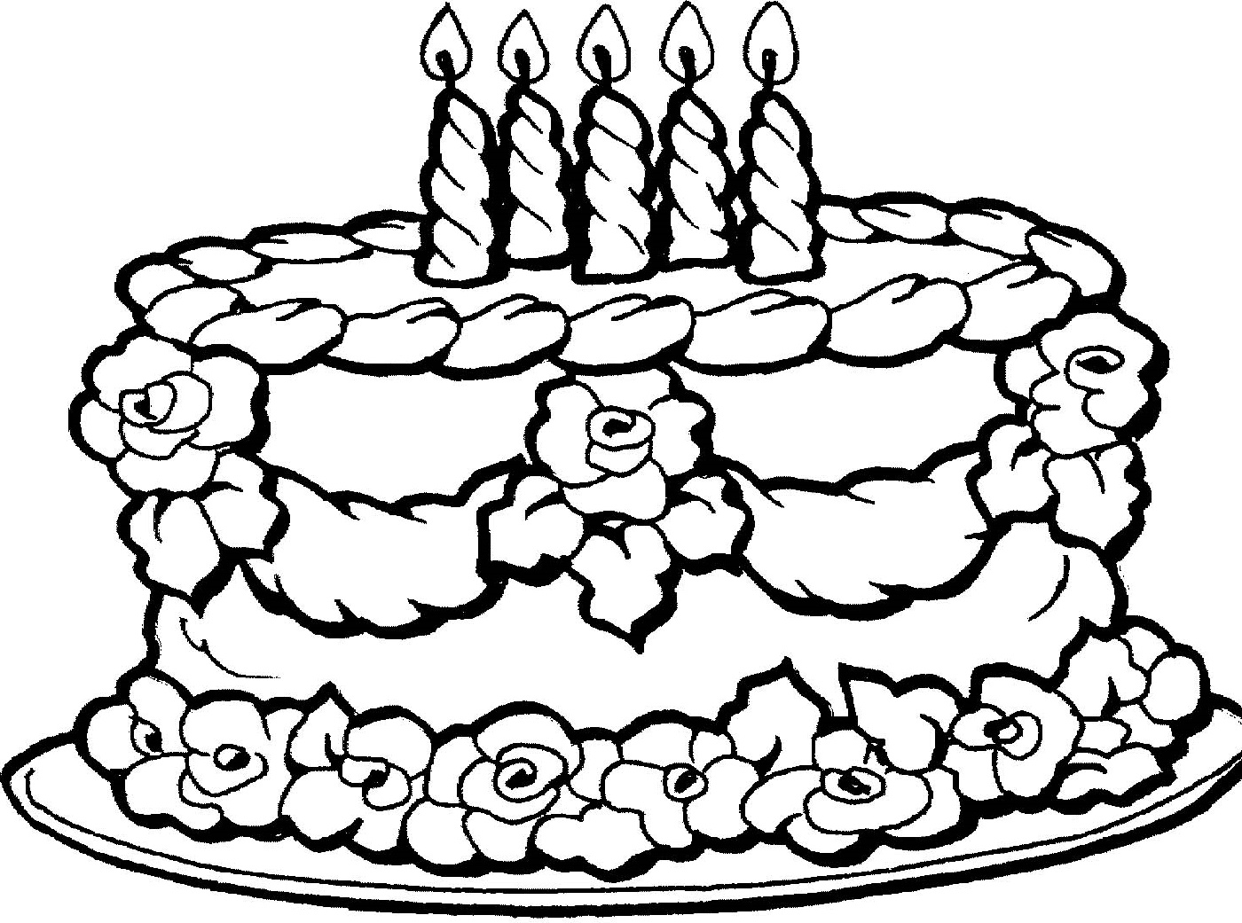 Cake Coloring Pages Free