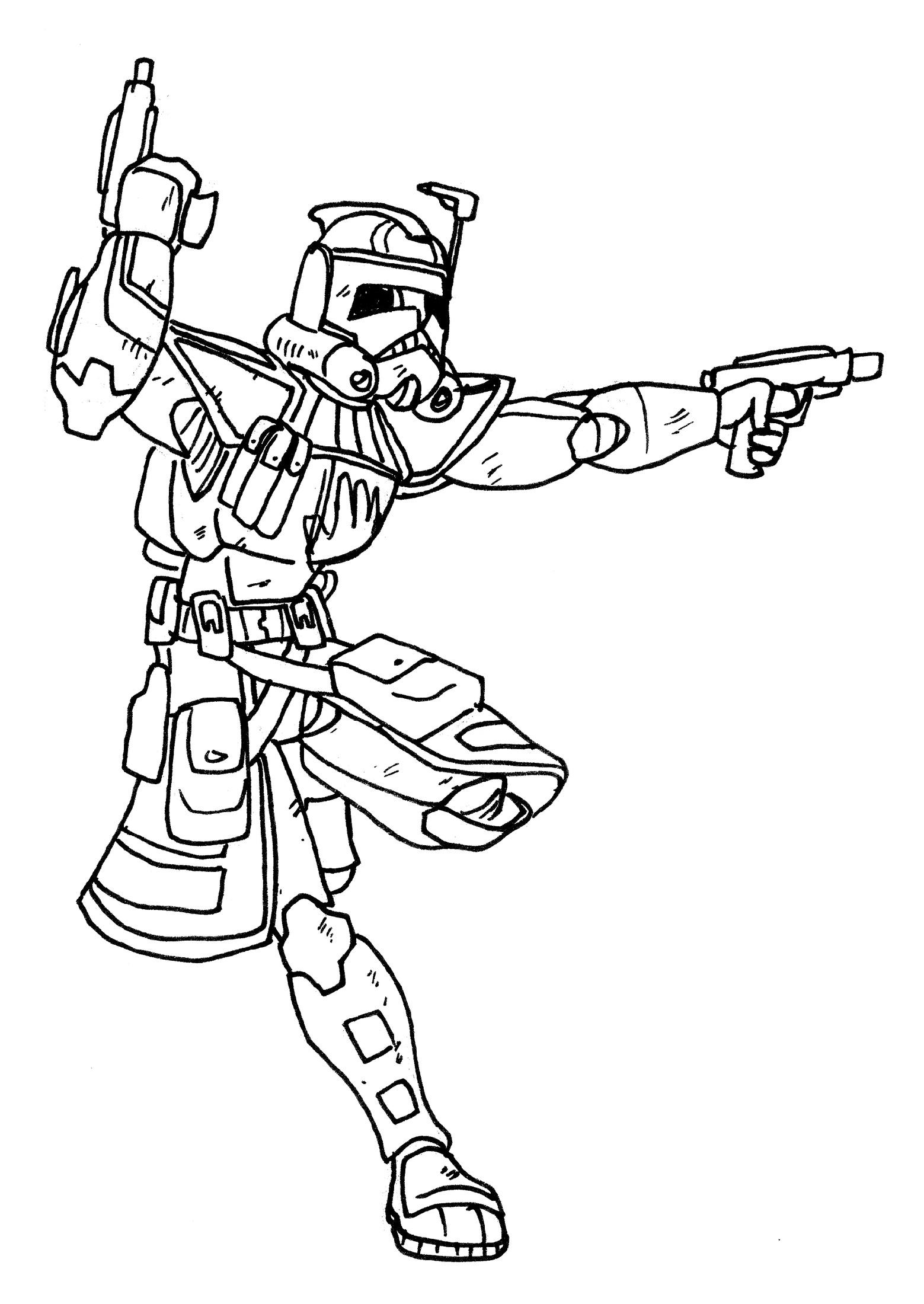 Clone Trooper Coloring Pages Arc