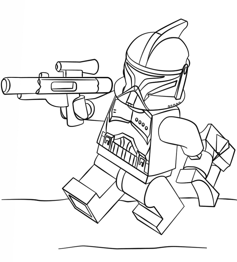 Clone Trooper Coloring Pages Lego